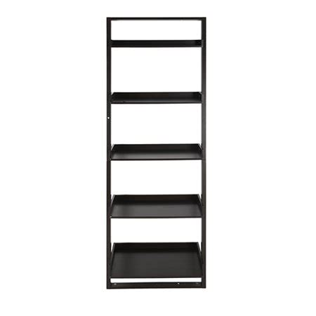 mainstays leaning ladder 5 shelf bookcase espresso best