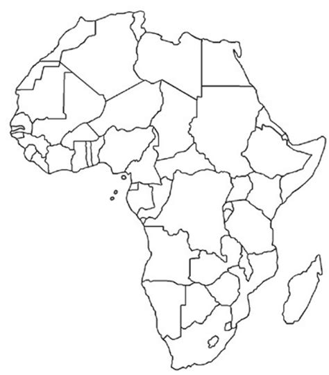 libya blank map coloring pages