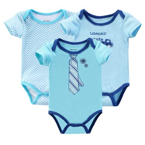 3 Pcs Set Baby Boy Print Clothing Sets 3 Pcs Lot Baby Romper And Boy Sleeve Leopard Print Bebe Summer Clothing Set For