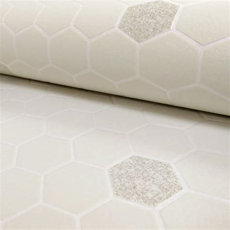 honeycomb pattern vinyl flooring rasch hexagon pattern glitter kitchen bathroom vinyl