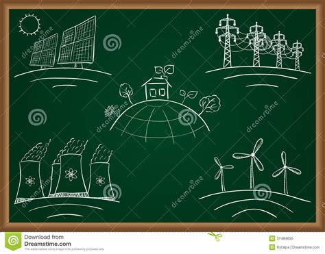doodle how to make energy power station energy doodles royalty free stock photo