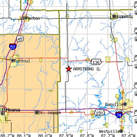 what us area code is 420 armstrong illinois il population data races housing