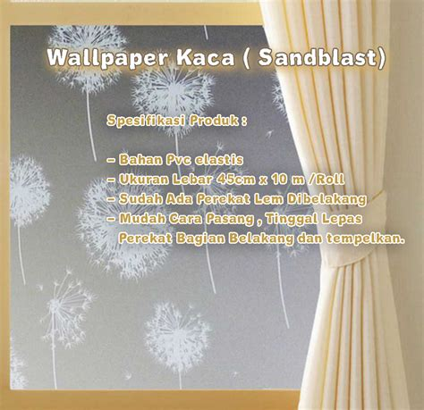 Wallpaper Kaca Sticker Kaca wallpaper kaca sandblast grosir wallsticker