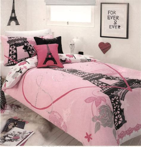 eiffel tower bed set paris j adore ooh la la eiffel tower pink black silver