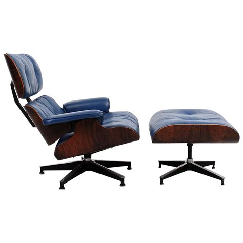eames chair and ottoman for sale blue leather eames lounge chair and ottoman for sale at