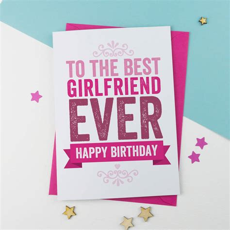 printable birthday cards girlfriend birthday card for girlfriend by a is for alphabet