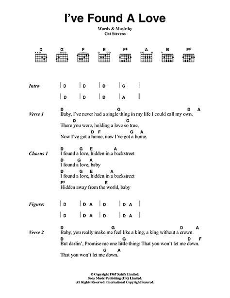 ed sheeran we found love chords i ve found a love sheet music by cat stevens lyrics