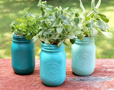 Diy Jar Planter by Diy Ombre Painted Jar Planters Craft Kicking It