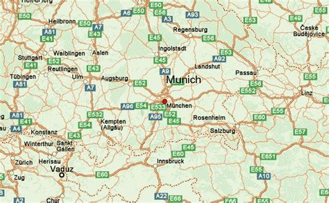map of and surrounding areas munich location guide