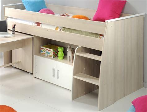 Hochbett Mit Schreibtisch Und Kleiderschrank 7 by Kinderzimmer Chiron 6 Akazie Hochbett Schreibtisch