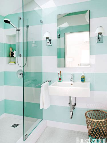 bathroom stripes water blues design chic design chic