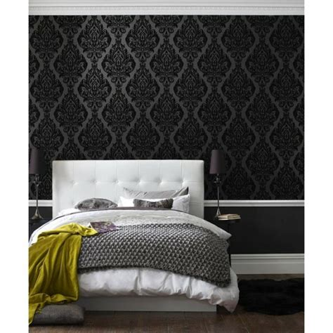 Schwarzes Schlafzimmer Wallpaper by Papier Peint Original En 50 Id 233 Es Magnifiques