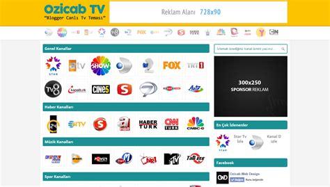 live tv themes ozicab blogger live tv theme