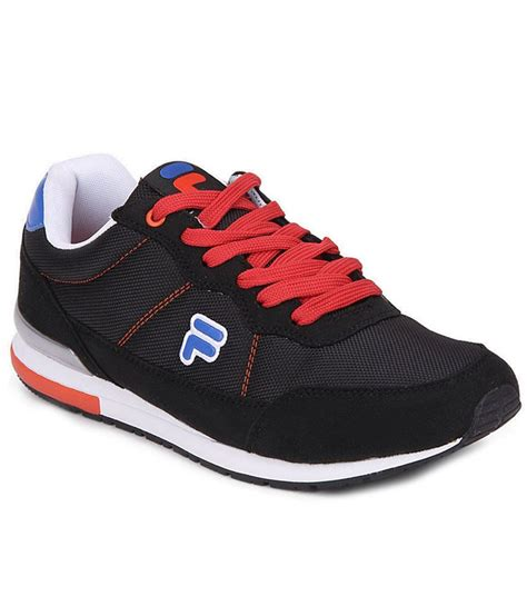 sports shoes for india fila eliso black sports shoes price in india buy fila