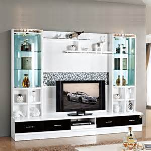 led wooden wall design hot selling wall units designs in living room 3d5 wood