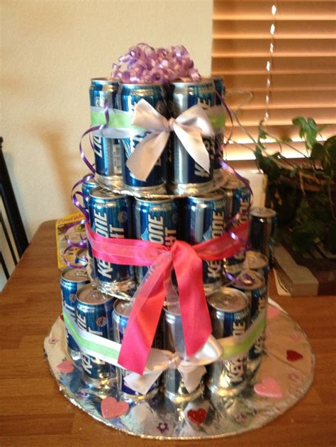 beer can cake beer can birthday cake i used 40 beer can u can use any