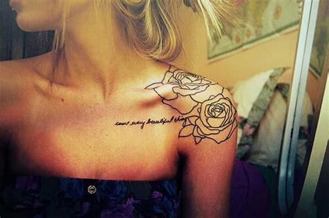 rose tattoo on shoulder girl outline rose tattoo on girl left shoulder