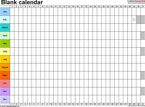 Tour Calendar Template