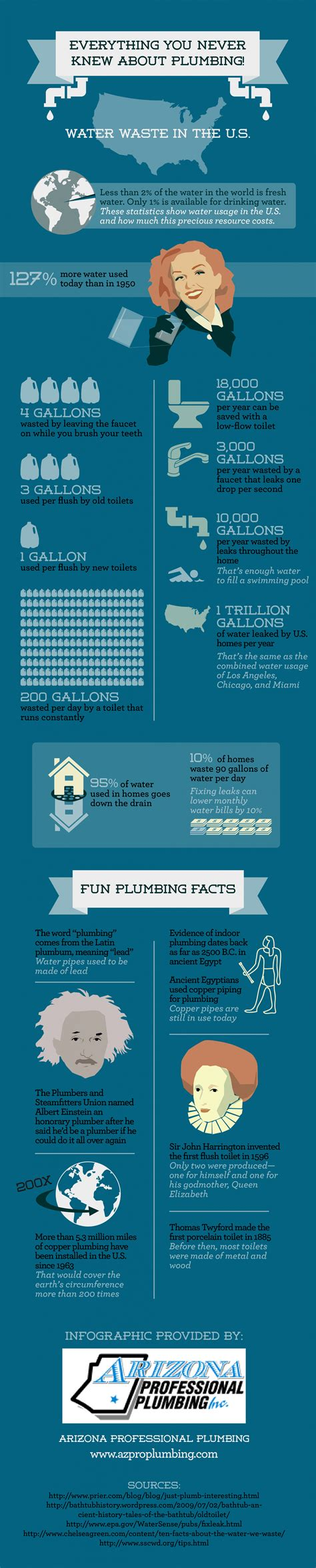 Plumbing Company Slogans by Everything You Never Knew About Plumbing Infographic
