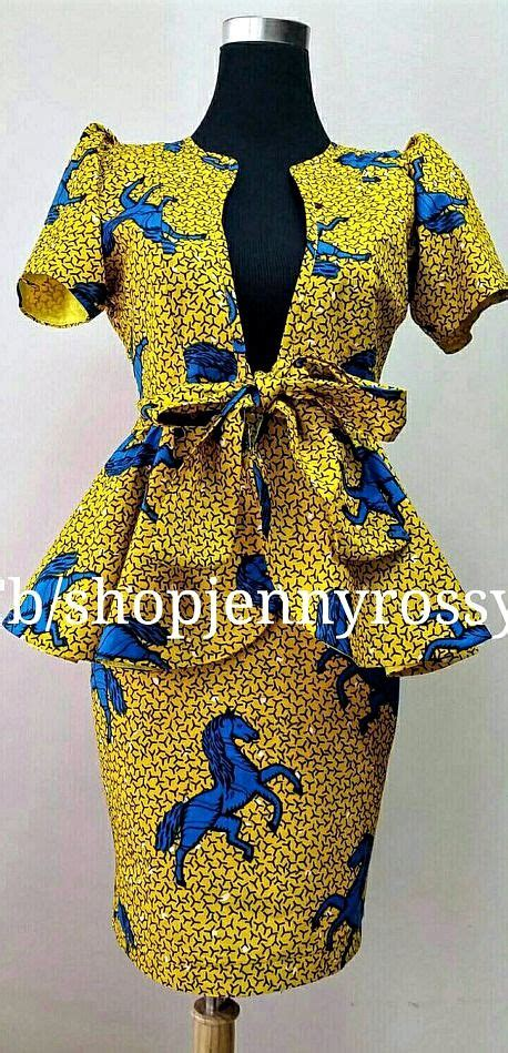 dress design with jacket african print skirt and top ankara pencil skirt and peplum