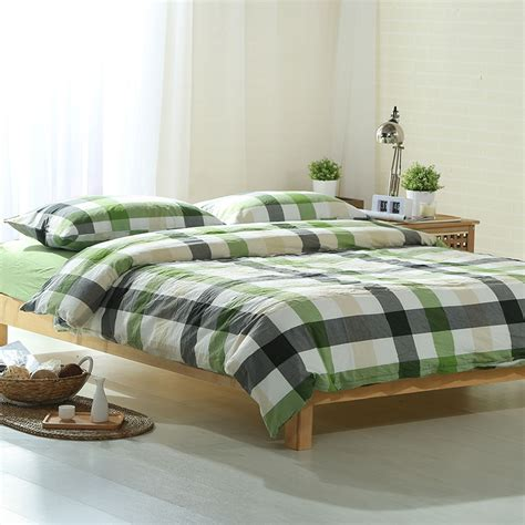 green plaid comforter set online get cheap green plaid bedding aliexpress com