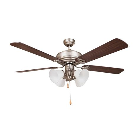 y decor revolution 52 in satin nickel ceiling fan