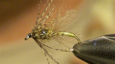 swing fly mercers tungsten swing caddis emerger fly tying