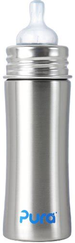 Pura Stainless Steel Infant Bottle 11oz325ml With Xl Sipper Mura top picks sippy cups with straw feeding my kid