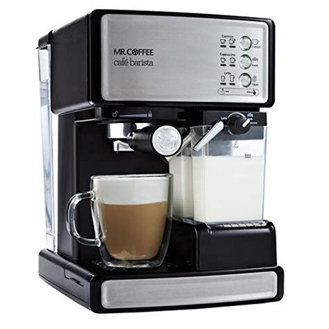 Mr Coffee Cafe Barista Espresso Maker with Automatic Milk Frother BVMC ECMP1000 072179232117   eBay