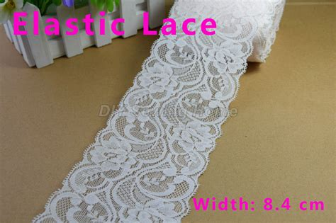 Diy Ribbon Lace Baker S Twine 18 8 4cm width elastic lace sewing ribbon guipure lace trim or fabric warp knitting diy garment