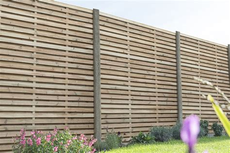 pressure treated contemporary double slatted