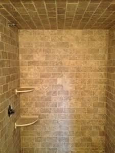 travertine tile ideas bathrooms travertine amp pebble bathroom modern bathroom boston