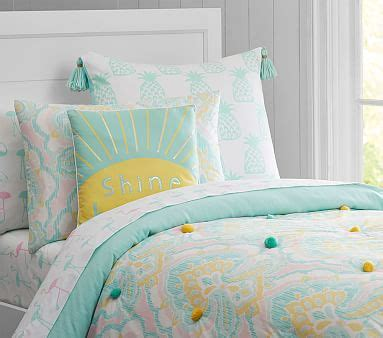 puffy headboard puffy ikat quilted bedding pottery barn kids