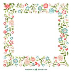 ornamental frames flowers design vector free download