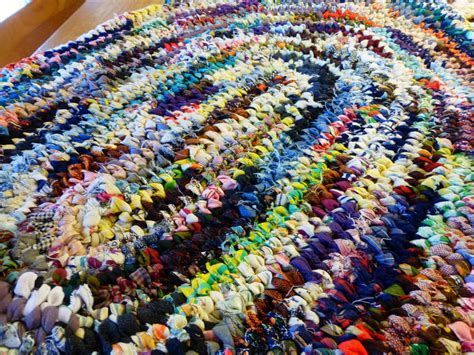 Toothbrush Rag Rug the circus oval toothbrush or nalbinde rag rug by rugsinthewoods