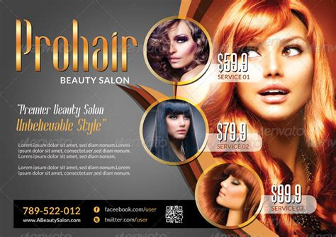Creative Ideas For Salon And Spa Businesses Hair Salon Newspaper Ad Templates
