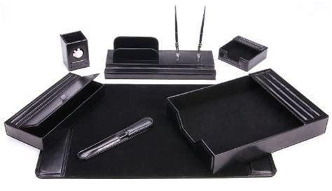 Leather Desk Organizer Set Leather Desk Desktop Office Organizer Workstation Desk Pads Table Mat Set 7 Pc Ebay