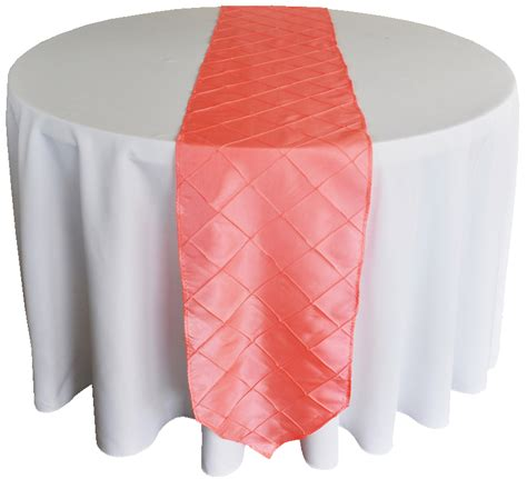 coral table runners coral pintuck taffeta table runners sale
