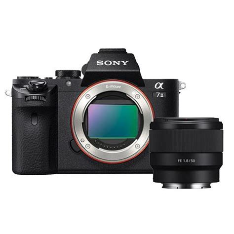 Sony Alpha A7 Sony Fe 50mm F 1 8 sony alpha a7 mkii mirrorless with fe 50mm f 1 8 lens
