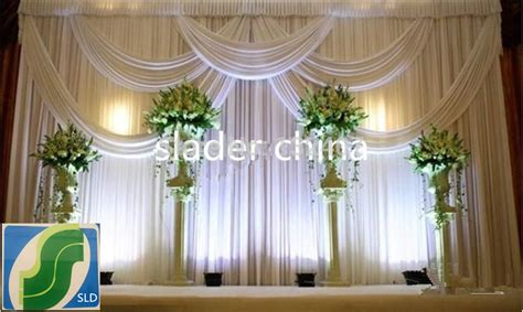 draped fabric wedding backdrop aliexpress com buy wedding backdrop ice silk fabric