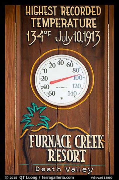 Highest Recorded Temperature In Valley Picture Photo Thermometer And Highest Recorded