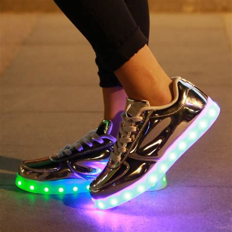 womens led light up shoes blouse shoes led shoes silver led shoes light up shoes