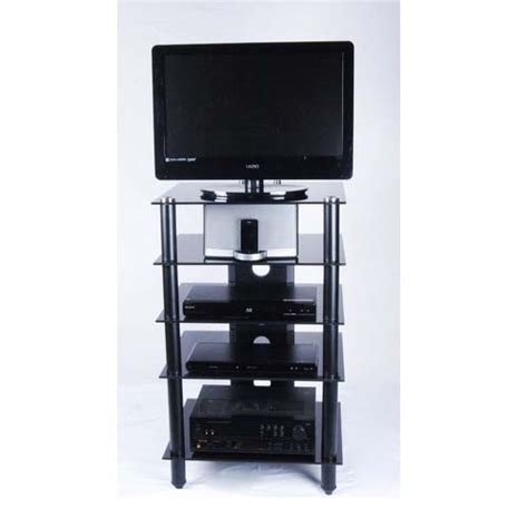 Audio Component Rack by Rta Tier One Designs Glass Audio Component Rack Clear Or