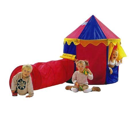tenda da gioco tenda da gioco circo per bambini 260x105x125 cm con tunnel