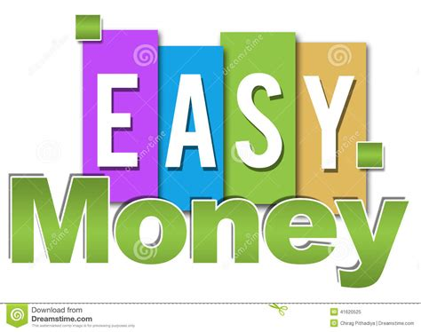 Make Easy Money Online Fast And Free - easy money professional colorful stock illustration image 41620525