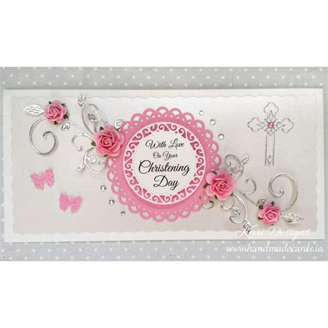 Handmade Christening Cards - handmade christening card