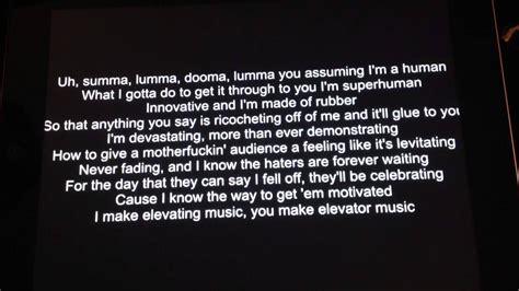 eminem quickest rap eminem rap god supersonic slow fast w lyrics youtube