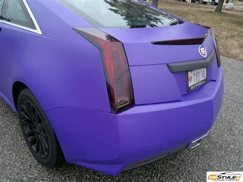 matte purple cadillac cts matte purple wrap vehicle customization