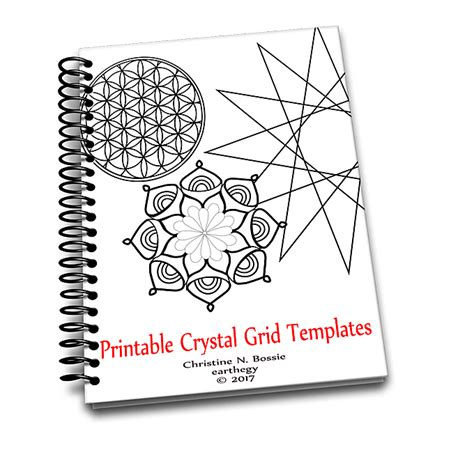 printable crystal grid templates ebook