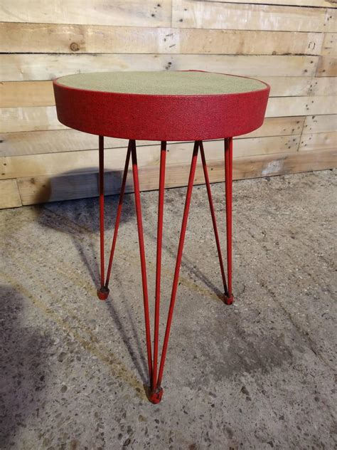 Stool Legs For Sale by Stylish 1950s Metal Stool On Hairpin Legs For
